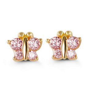 Bella Baby 14K Gold Light Pink Butterfly Stud Earrings at Arman's Jewellers Kitchener
