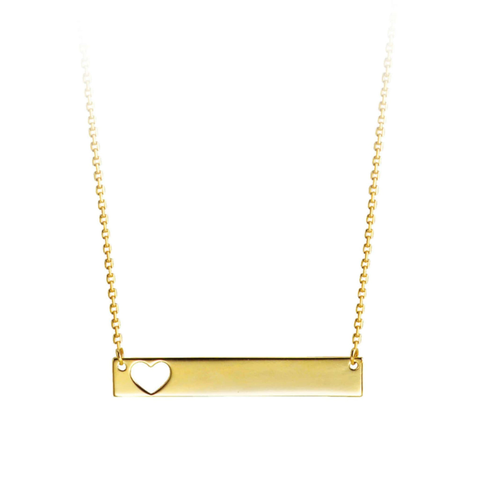 Bella 10K Yellow Gold Monogram Heart Necklace at Arman's Jewellers Kitchener