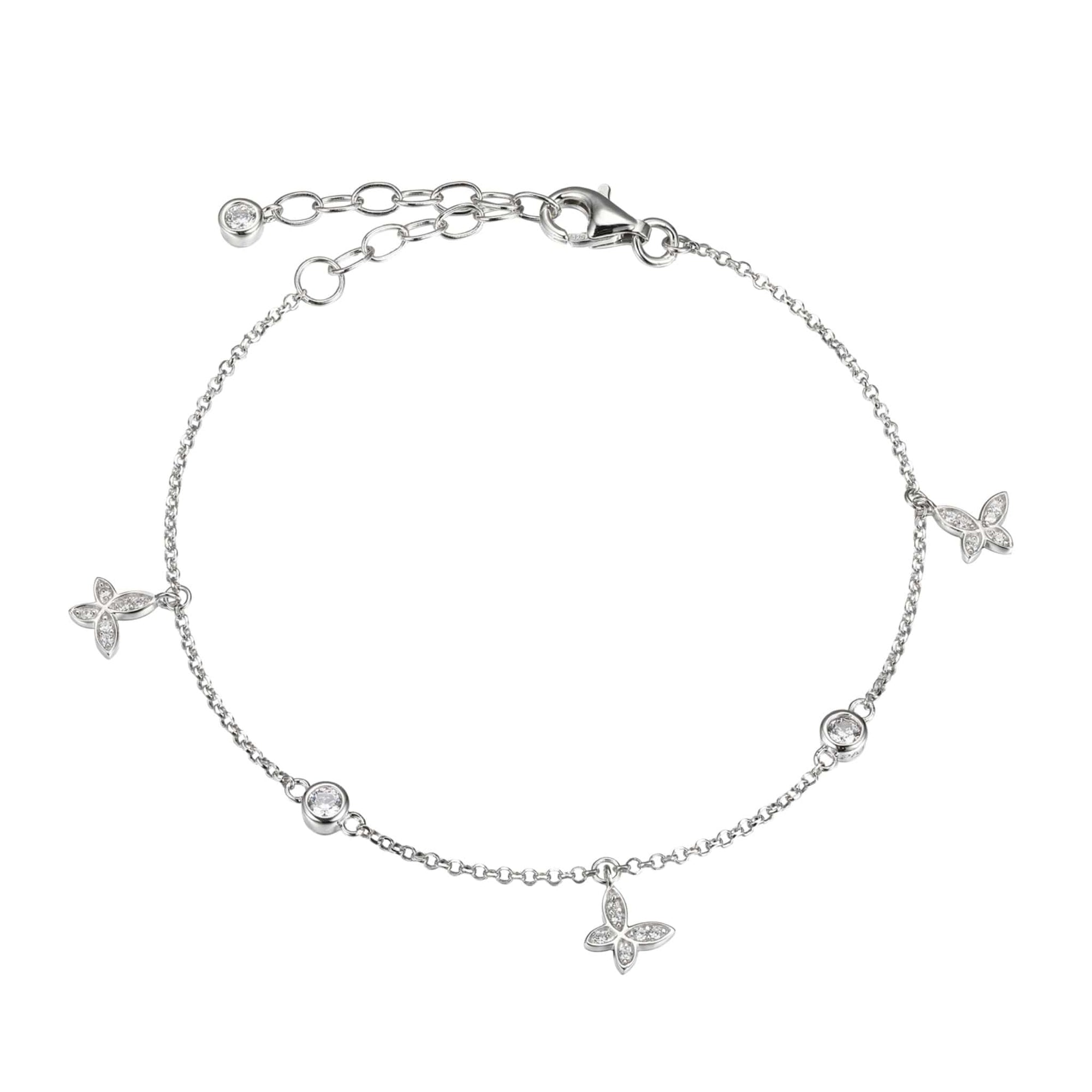 CZ Butterfly Silver Bracelet at Arman's Jewellers