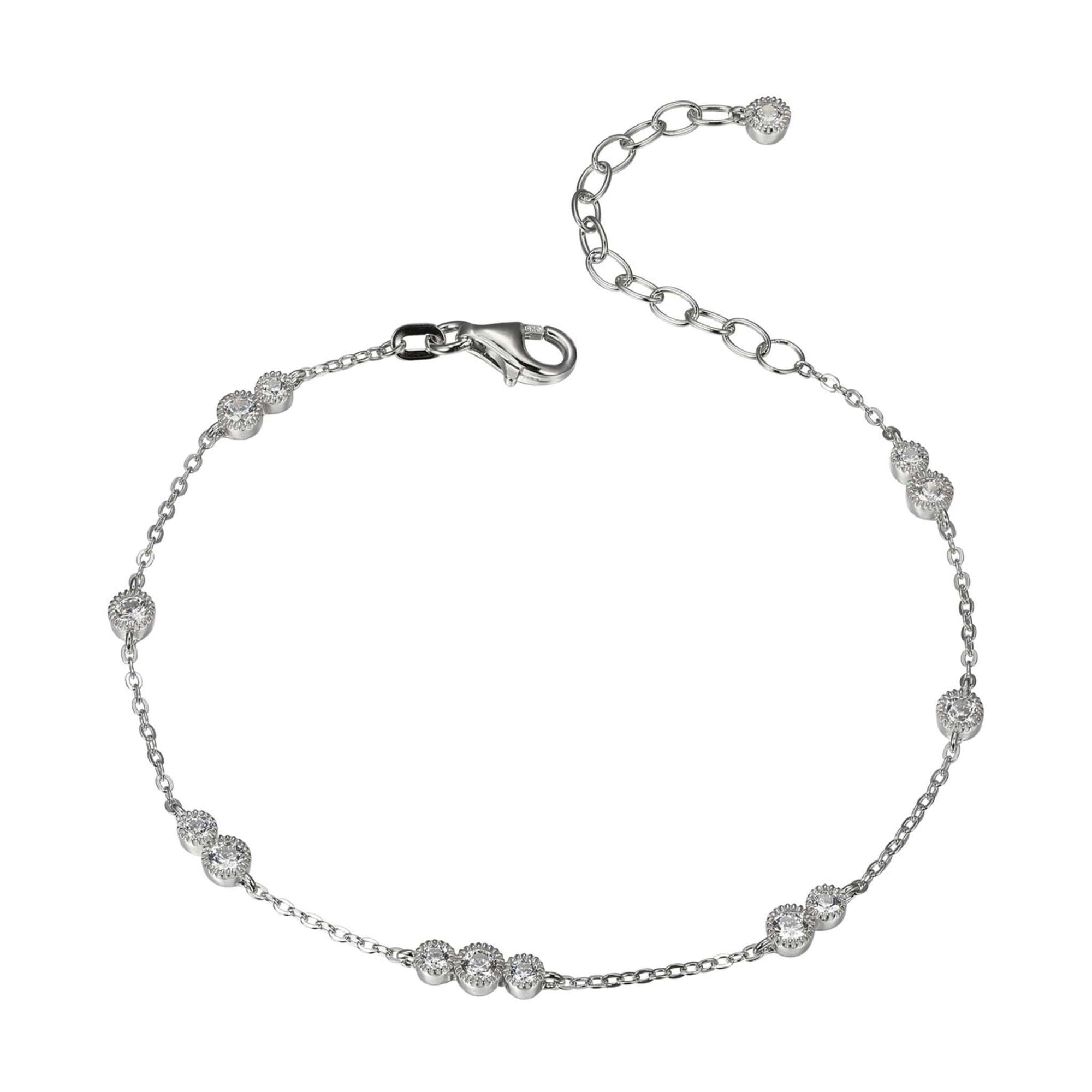 CZ Silver Station Bracelet at Arman's Jewellers