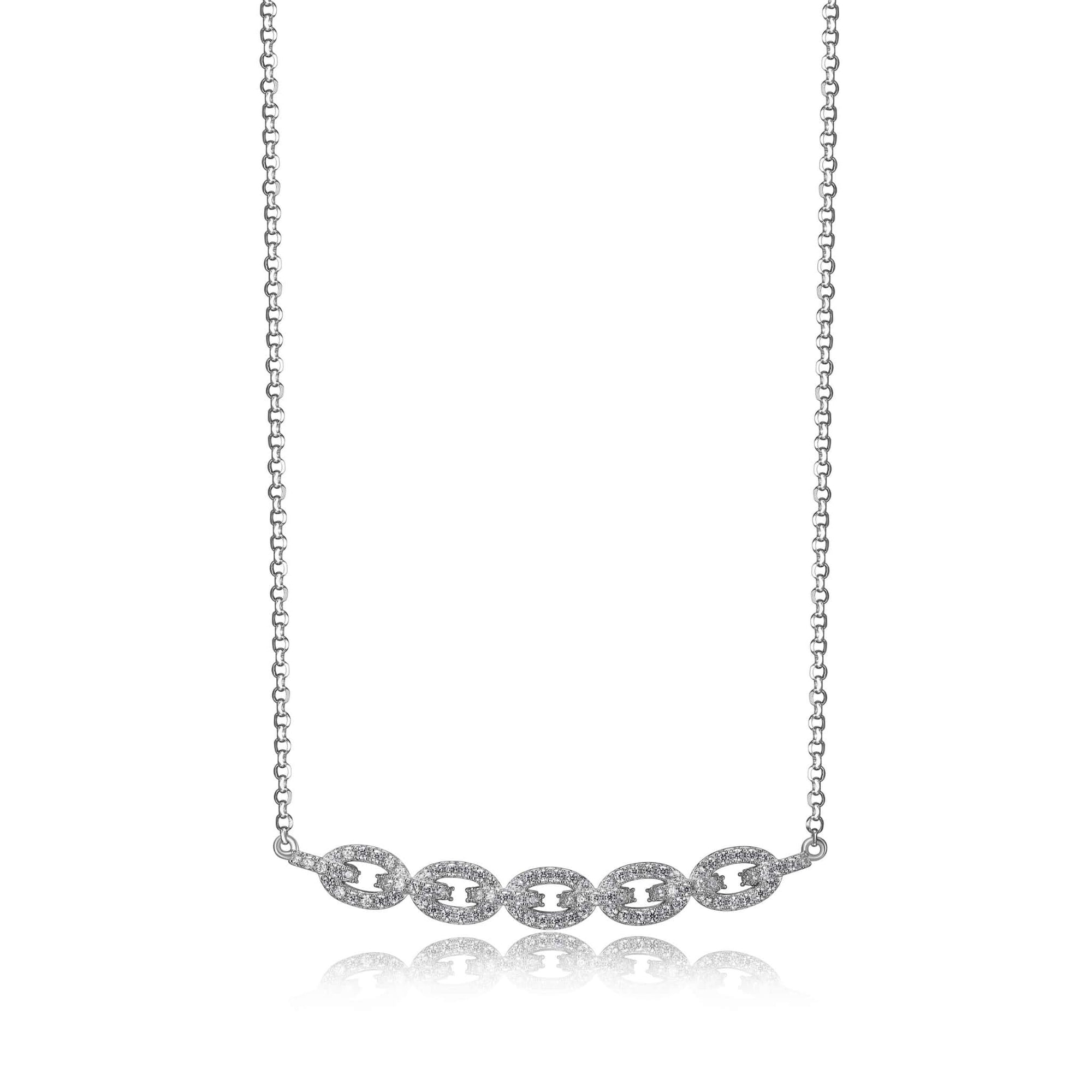 Charles Garnier Diamonique Silver Necklace at Arman's Jewellers