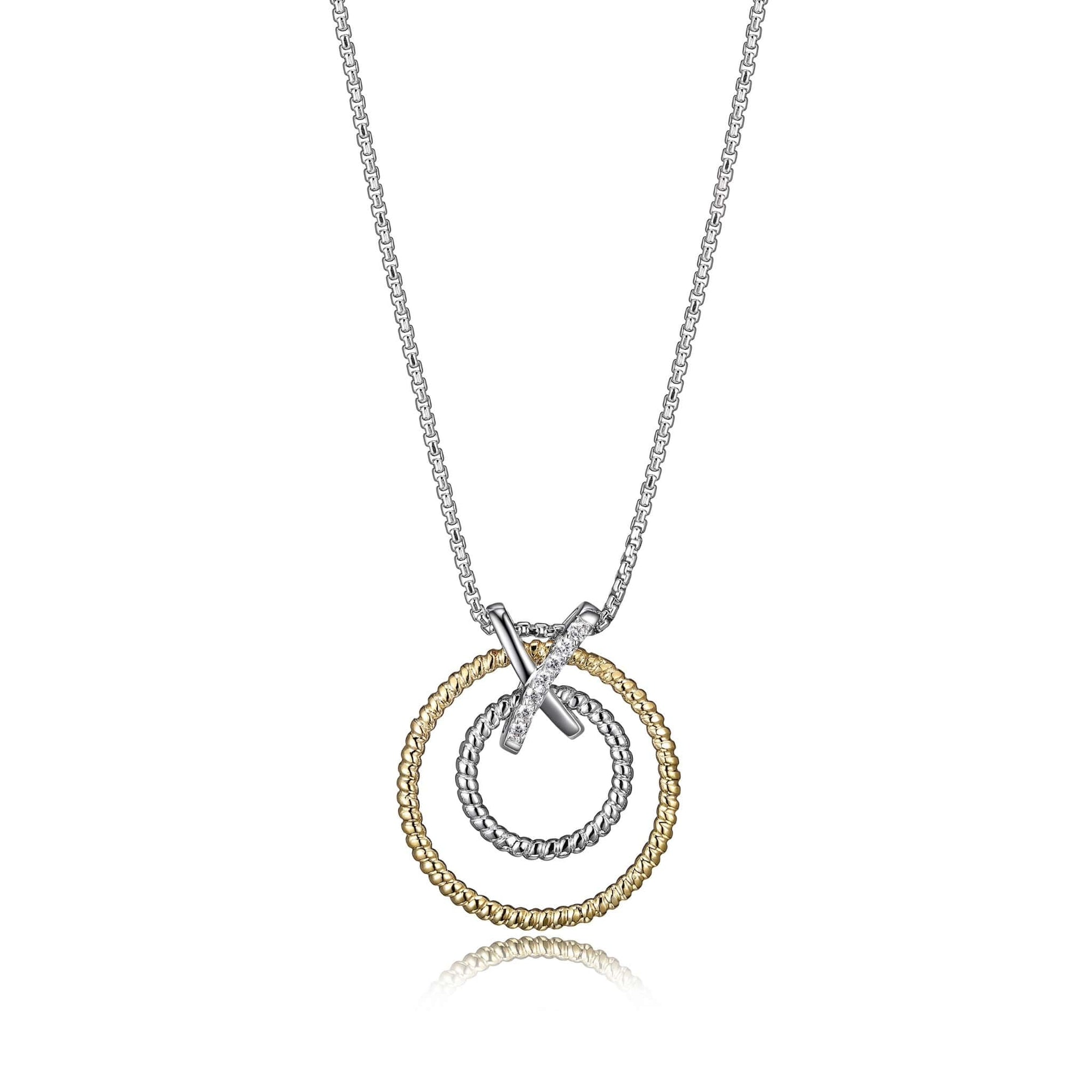 "Charles Garnier ""Linq"" Two-Tone Silver Necklace at Arman's Jewellers"