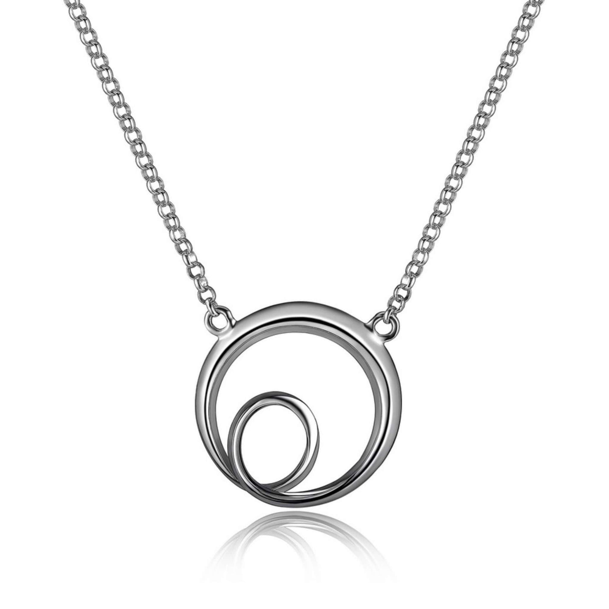 ELLE Eternity Circle Silver Necklace at Arman's Jewellers