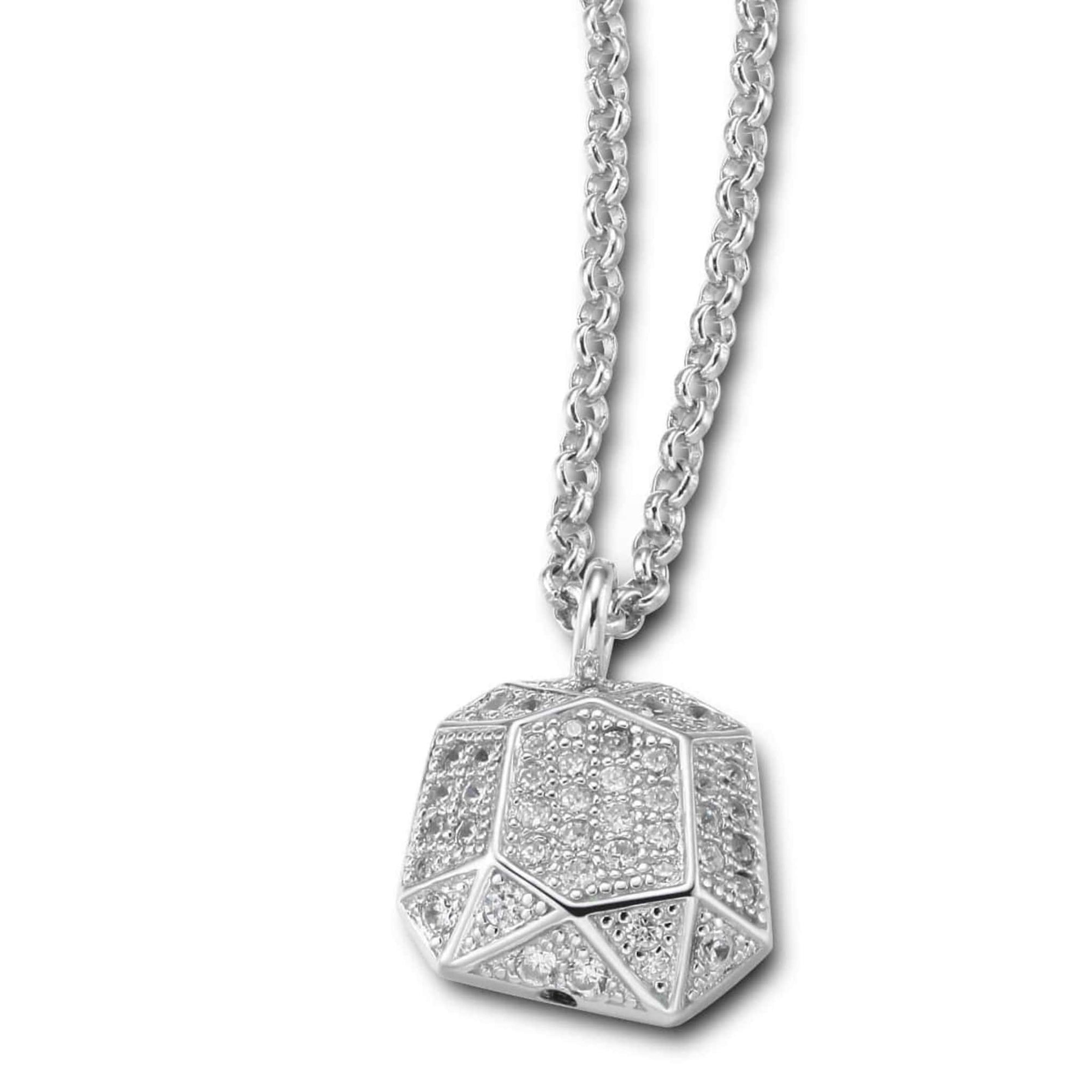 ELLE Faceted Nugget Silver Necklace at Arman's Jewellers