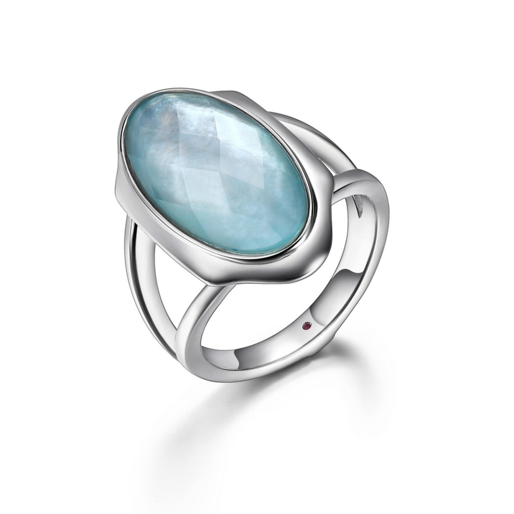 ELLE Glacier Silver Doublet Ring at Arman's Jewellers