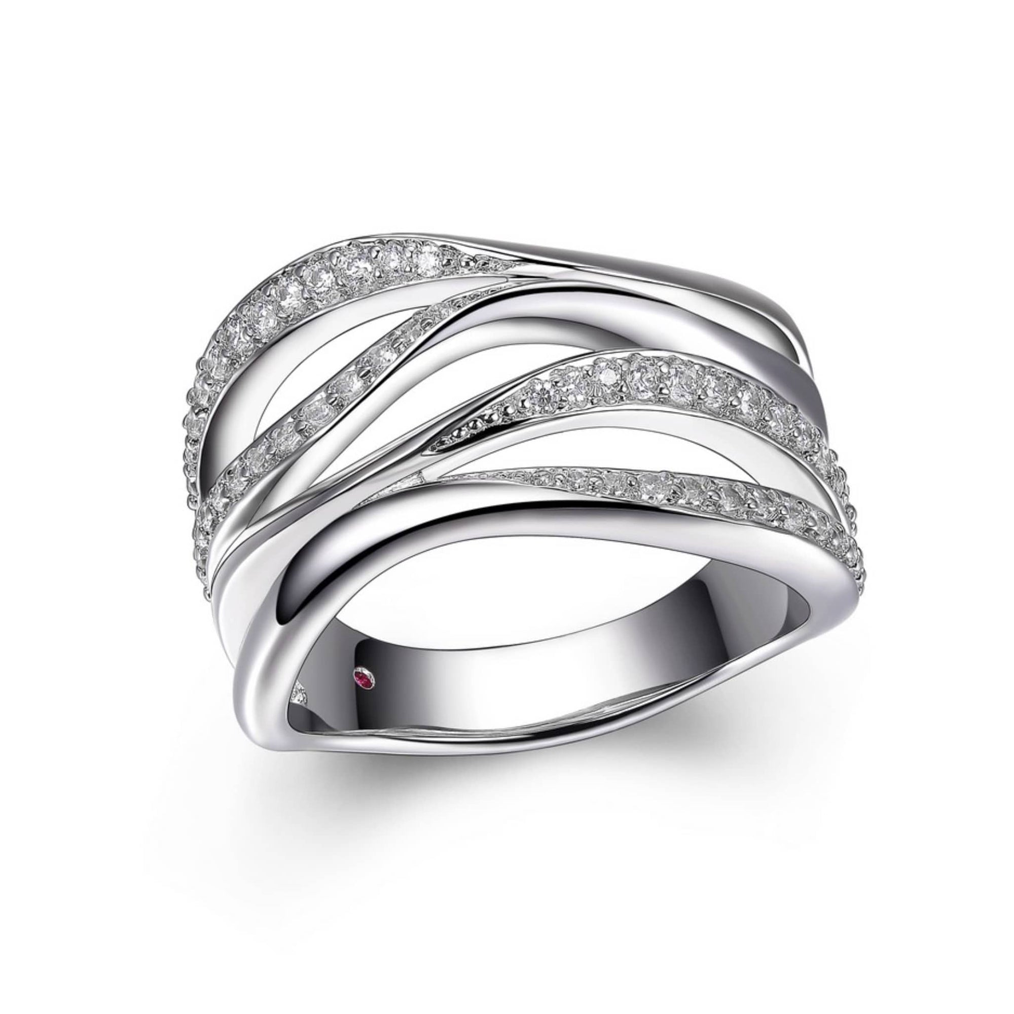 ELLE Ocean Wide Wrap Silver Ring at Arman's Jewellers