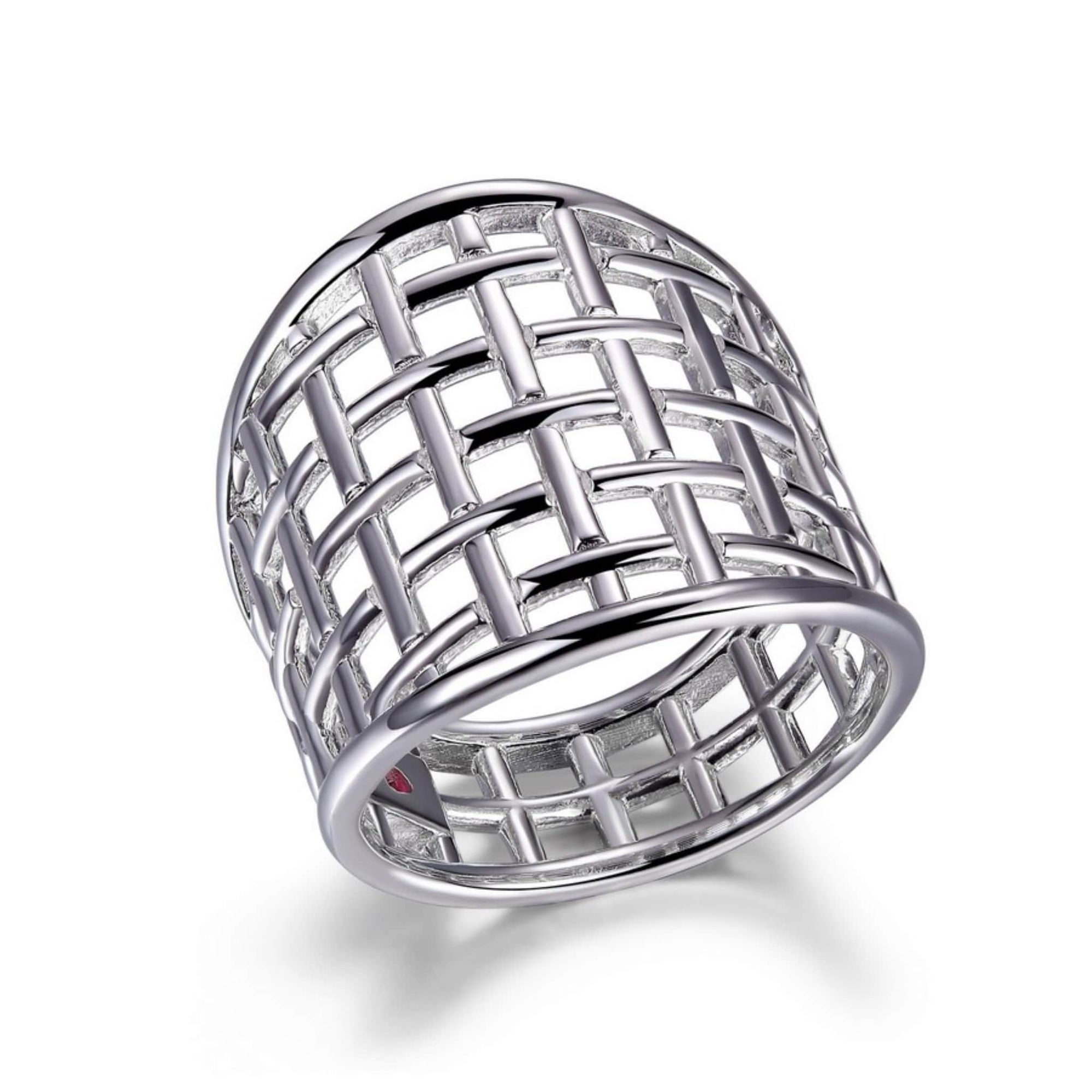 ELLE Secret Garden Wide Silver Ring at Arman's Jewellers