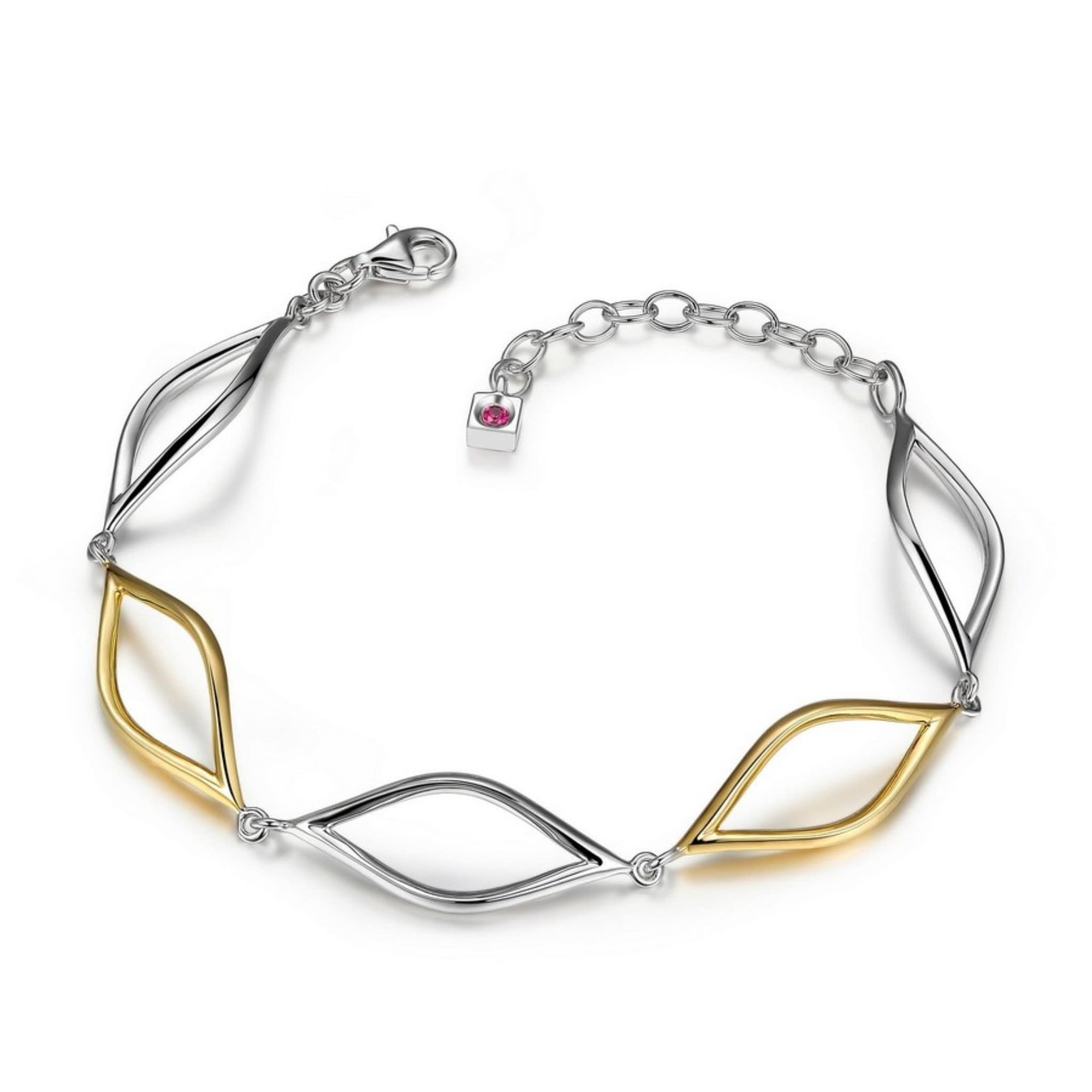 ELLE Waves Two-Tone Silver Bracelet at Arman's Jewellers