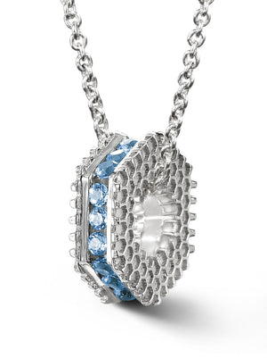 Bcouture December Mini Keepsake- Blue Topaz With Chain at Arman's Jewellers Kitchener