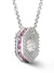 Bcouture October Mini Keepsake- Pink Sapphire With Chain at Arman's Jewellers Kitchener