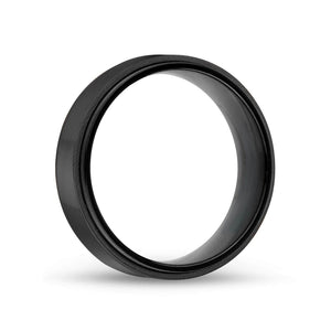 Men's 7mm Black Steel Ring at Arman's Jewellers Kitchener