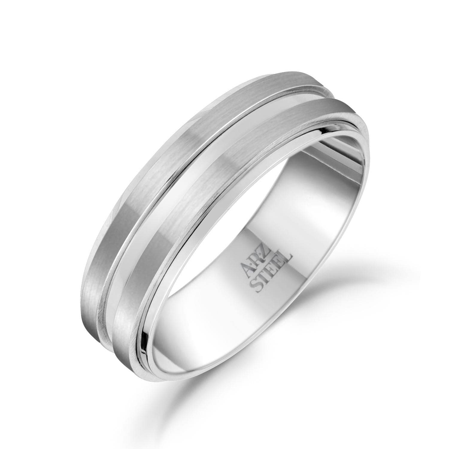 Men's 7mm Men's Double Row Steel Band at Arman's Jewellers Kitchener