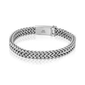 Men's Steel Double Franco Link Bracelet at Arman's Jewellers.jpg