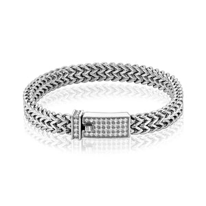 Men's Steel Double Franco Link Bracelet at Arman's Jewellers.