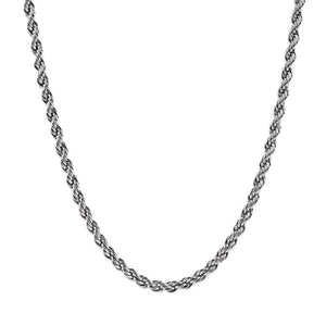 Mens 5mm Steel Rope Chain Necklace at Arman's Jewellers
