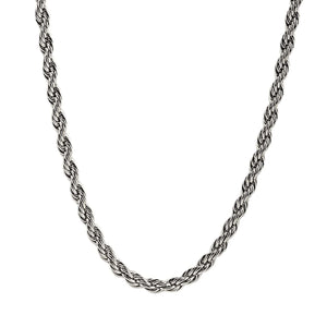 Mens 8mm Steel Rope Chain Necklace at Arman's Jewellers