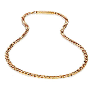 Men's 8mm Men's Gold Steel Cuban Link Chain Necklace at Arman's Jewellers
