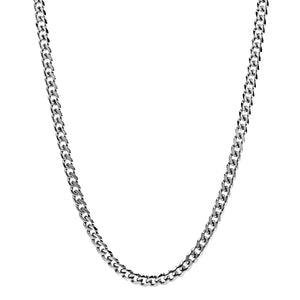 Men's 8mm Men's Steel Cuban Link Chain Necklace at Arman's Jewellers