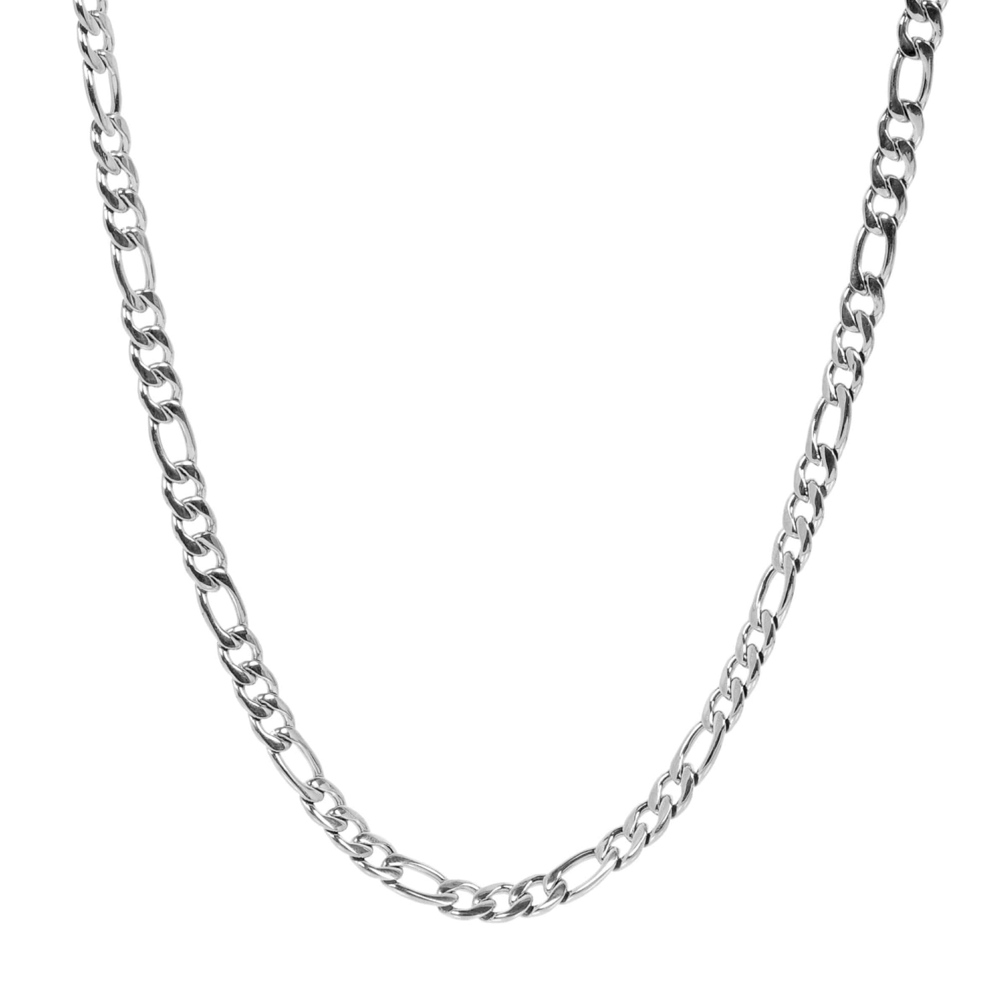 Men's 7mm Steel Figaro Link Necklace at Arman's Jewellers Kitchener
