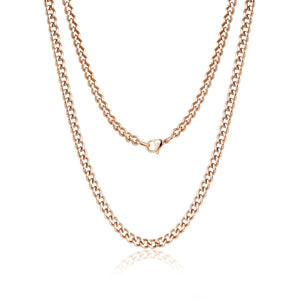 5mm Stainless Steel Cuban Link Chain Necklace