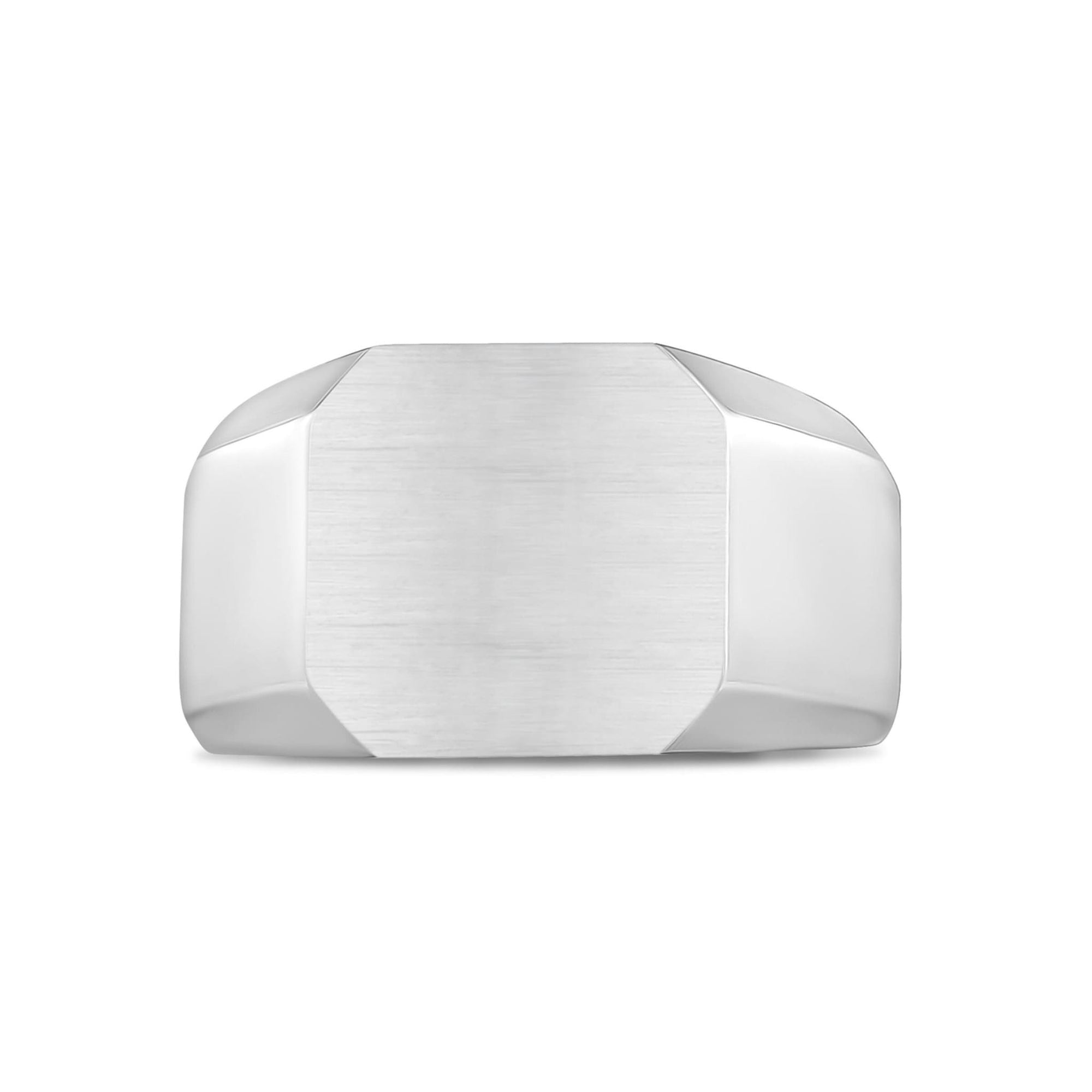 Stainless Steel Matte Signet Ring at Arman's Jewellers