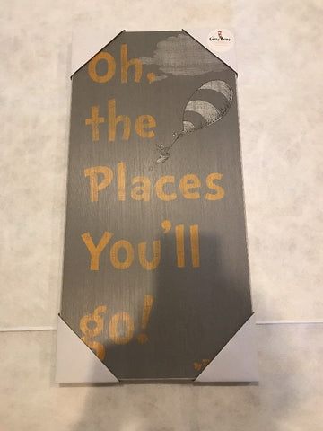 oh the places you'll go wood box art - Package Of 2
