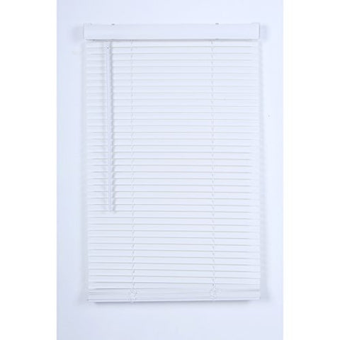Project Source 1-in Cordless White Vinyl Room Darkening Mini-Blinds 32-inch x 64-inch