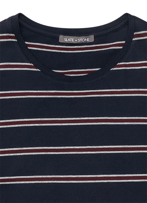 Short Sleeve Striped Crew Tee