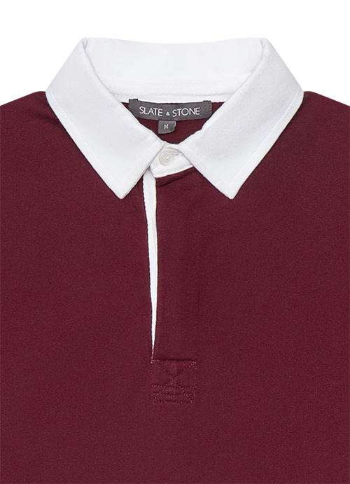 Color Block Long Sleeve Polo