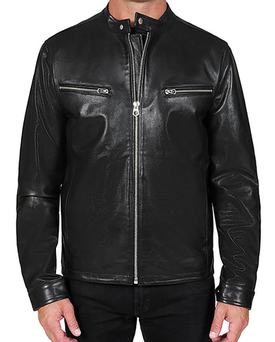 Tab Leather Jacket