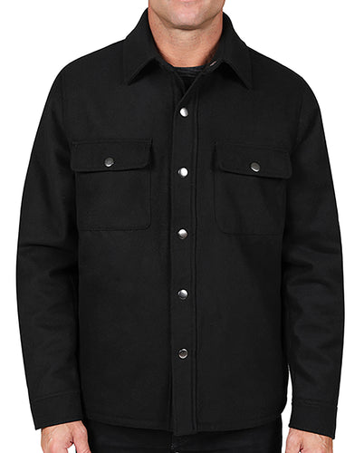 Snap Front Sherpa Shirt Jacket