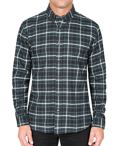 Flannel Button Down Collar Shirt