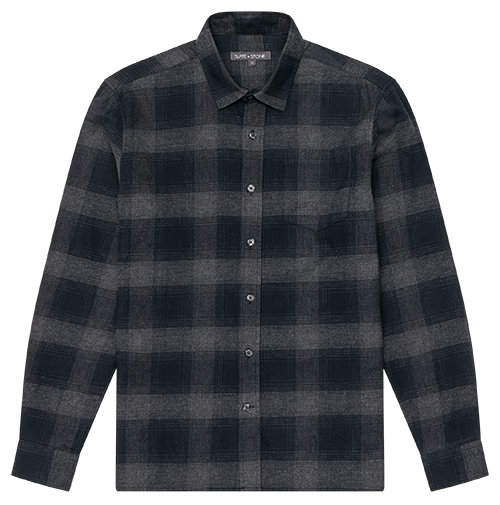 Flannel Straight Hem Shirt