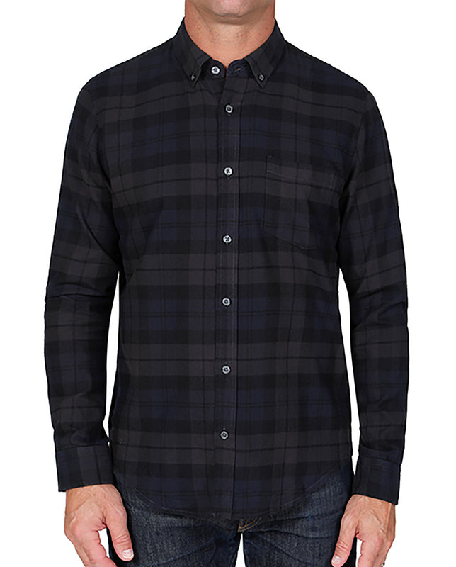Flannel Button Down Shirt With A Pocket