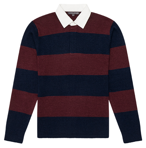 Rugby Stripe Polo Sweater
