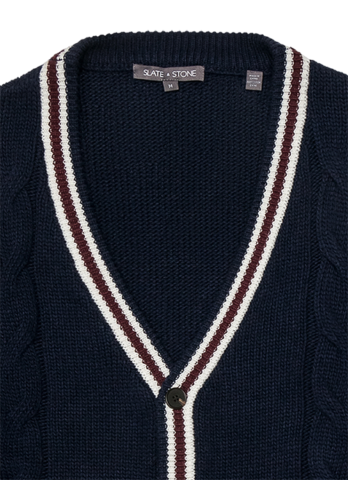 Varsity Cable Cardigan