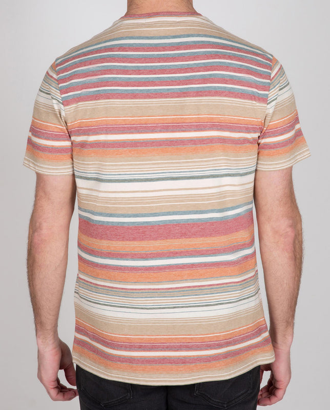 Short Sleeve Multi Stripe Crew