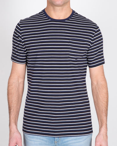 Short Sleeve Pocket Stripe Crew