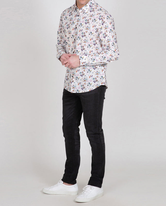 Novelty Poplin Long Sleeve Shirt