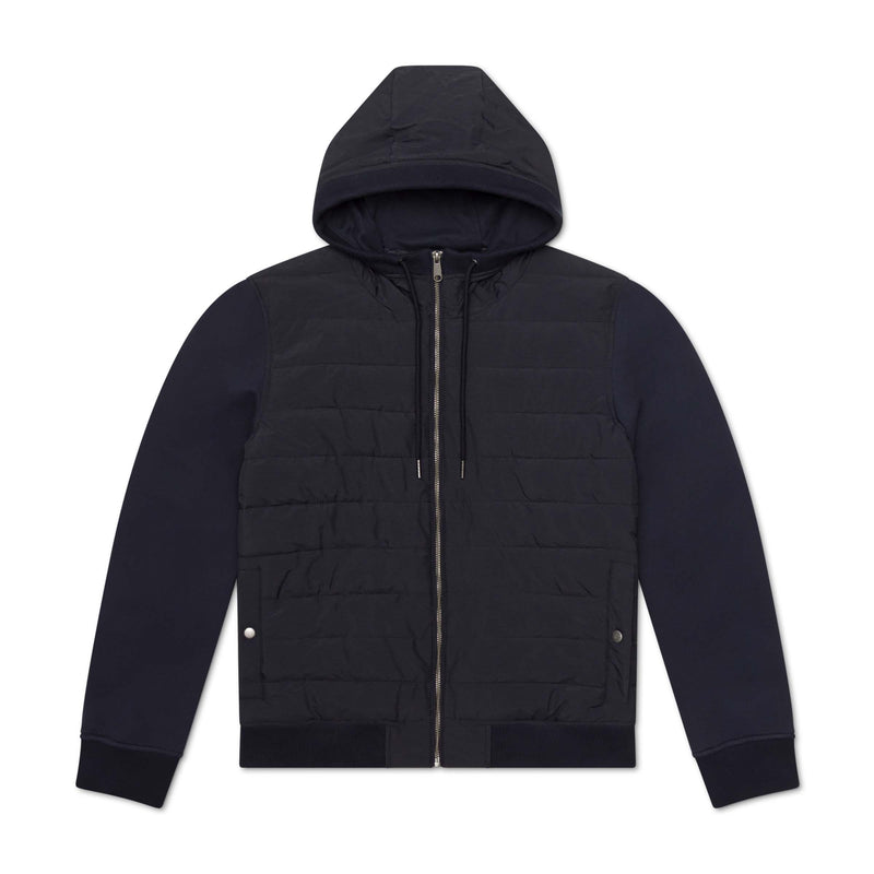 QUILTED NYLON KNIT JACKET