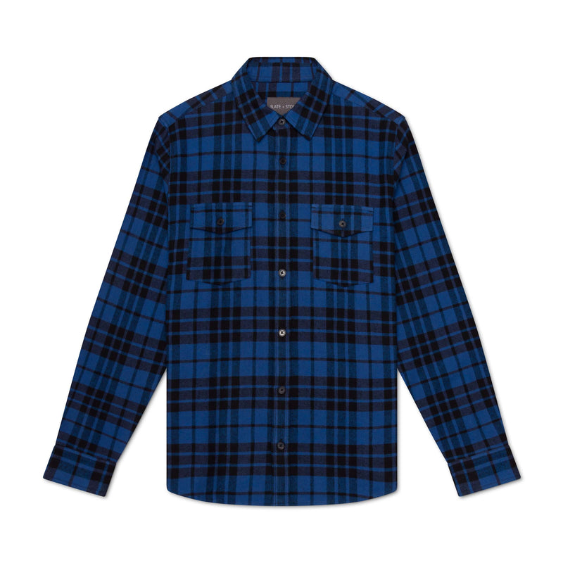 HEAVY FLANNEL SHIRT JACKET