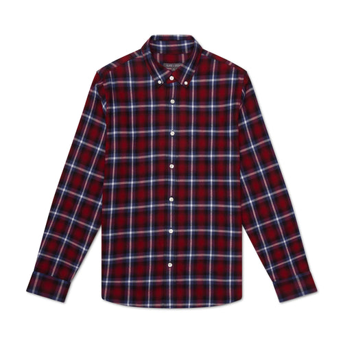 Button Down Collar Flannel Shirt