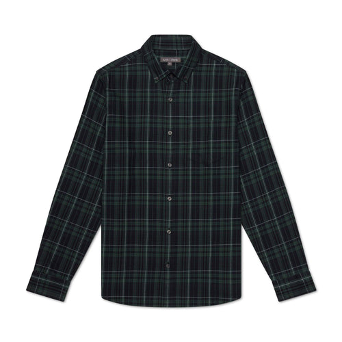 Button Down Collar Flannel Shirt With Pocket