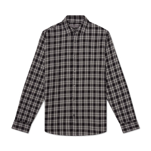 Point Collar Flannel Shirt