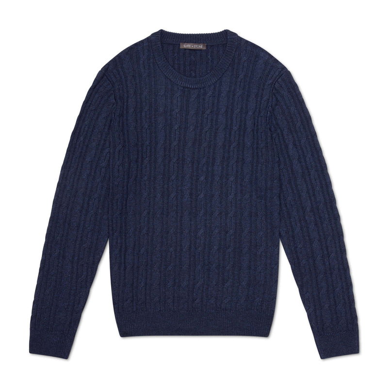 CABLEKNIT CREWNECK SWEATER