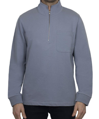 1/4 ZIP FRENCH TERRY SWEATSHIRT