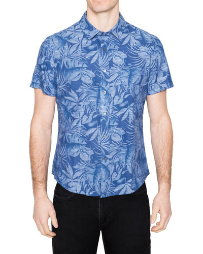 Washed Indigo Short Sleeve Shirt