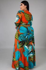 Paradise Tropical Dress (plus size)