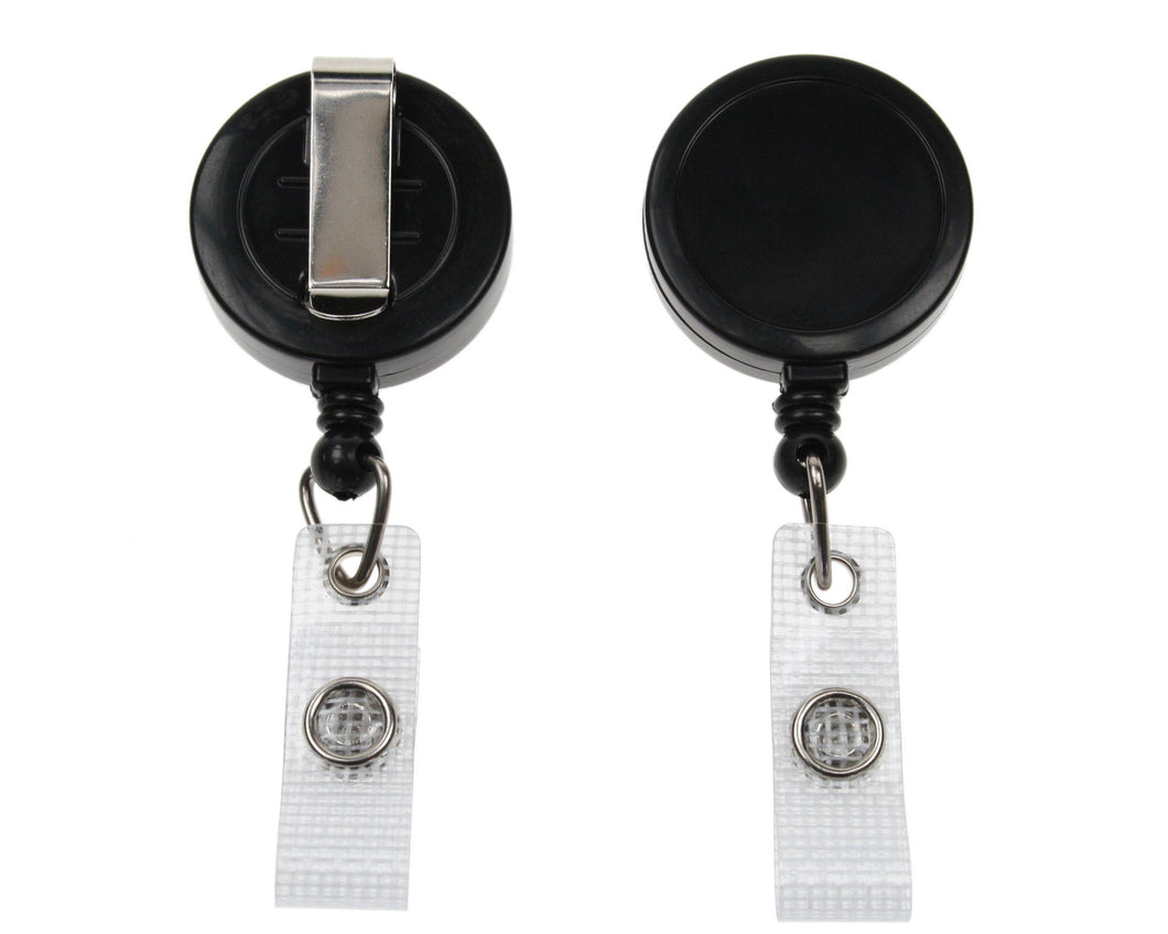 Badge Reel with Re-Enforced Strap Clip