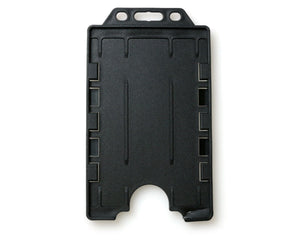 DUAL-SIDED OPEN FACED RIGID CARD HOLDER-PORTRAIT
